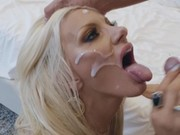 Alexia Sky Receives Fucked While Her Friend Licks On Her Bald Pussy